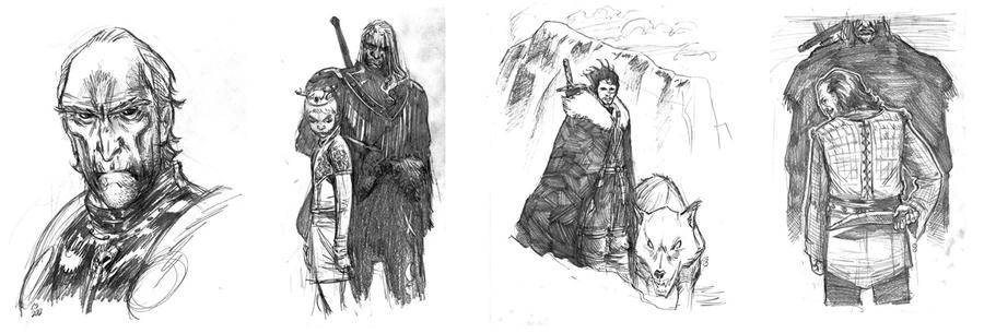 Game of Thrones sketches by csmithart