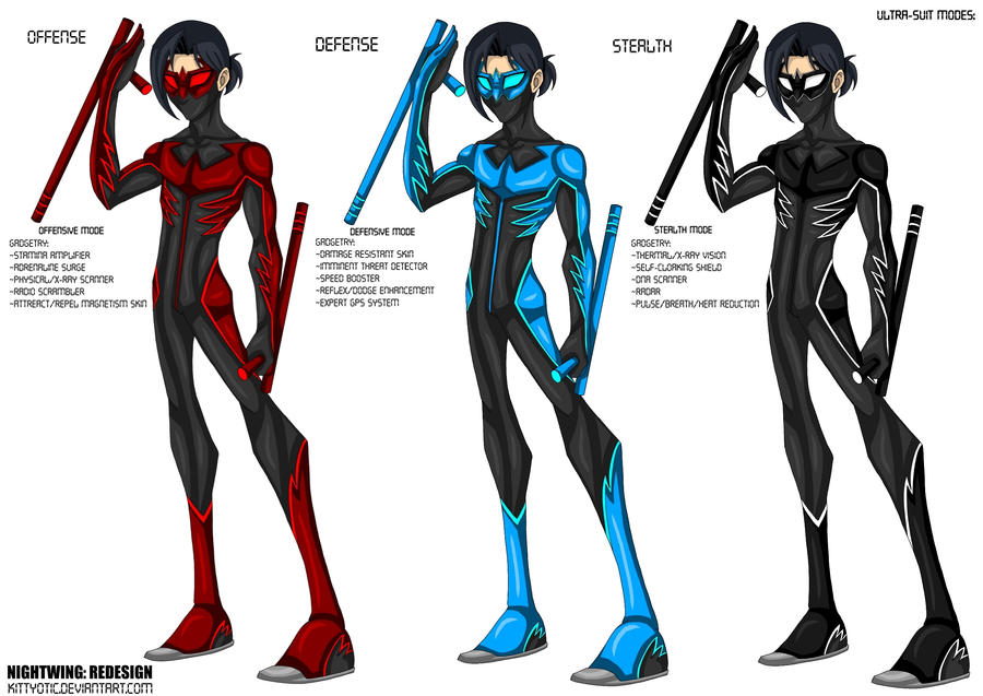 Nightwing Costume For Kids Nightwing Redesign by