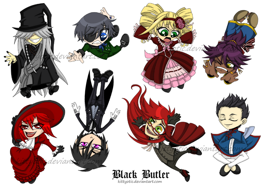 Black Butler Chibis By Kittyotic