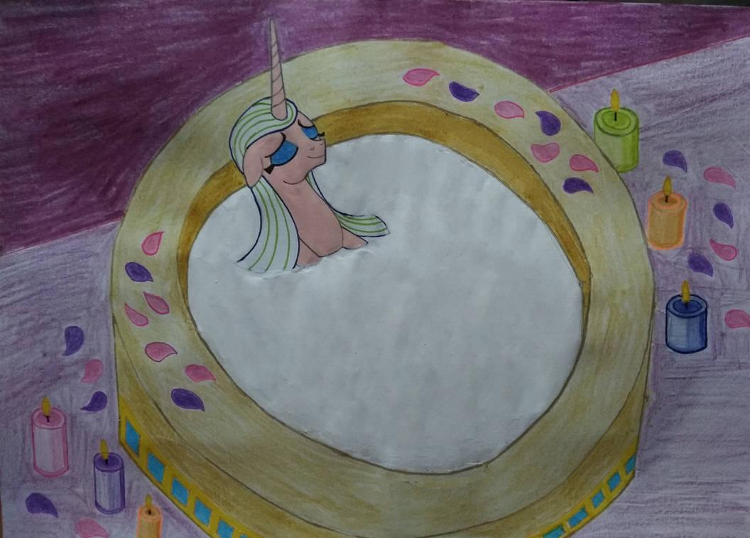 Nefertiti take a Milk Bath
