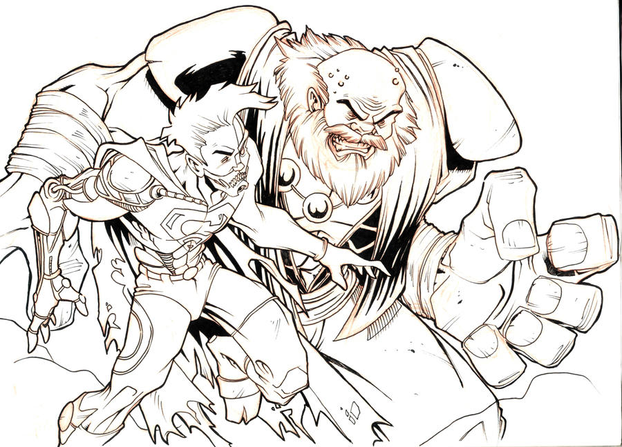 cyborg superman vs maestro hulk by teamlattie