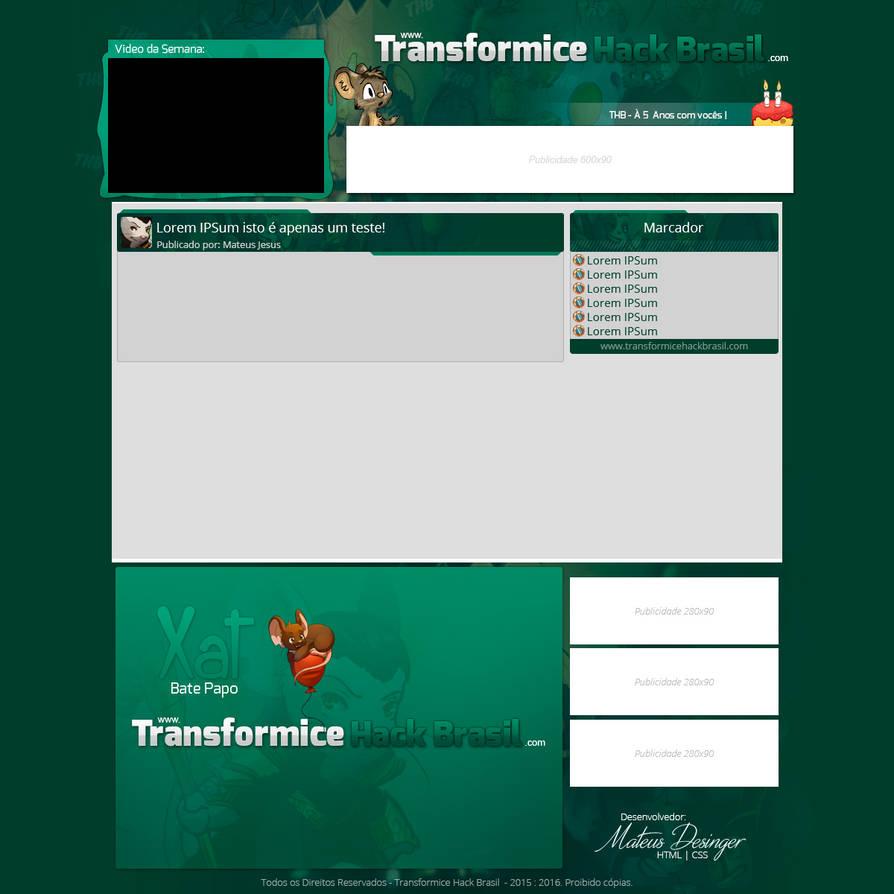 Layout Blogger Transformice Hack Brasil by DesignerMateus on