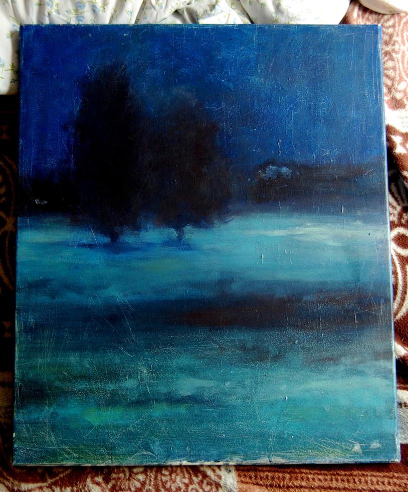 Nocturn in blue by Jerzynka