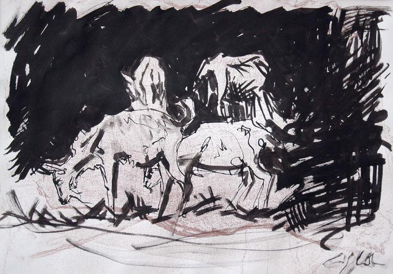 goat sketch by Jerzynka