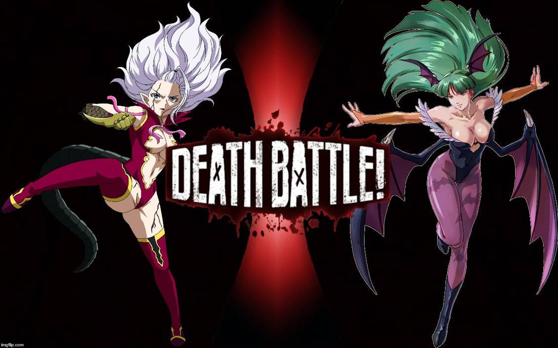 Death Battle Mirajane Strauss Vs Morrigan Aensland By K Manoc1 On Deviantart Just a death battle thumbnail that i made. death battle mirajane strauss vs