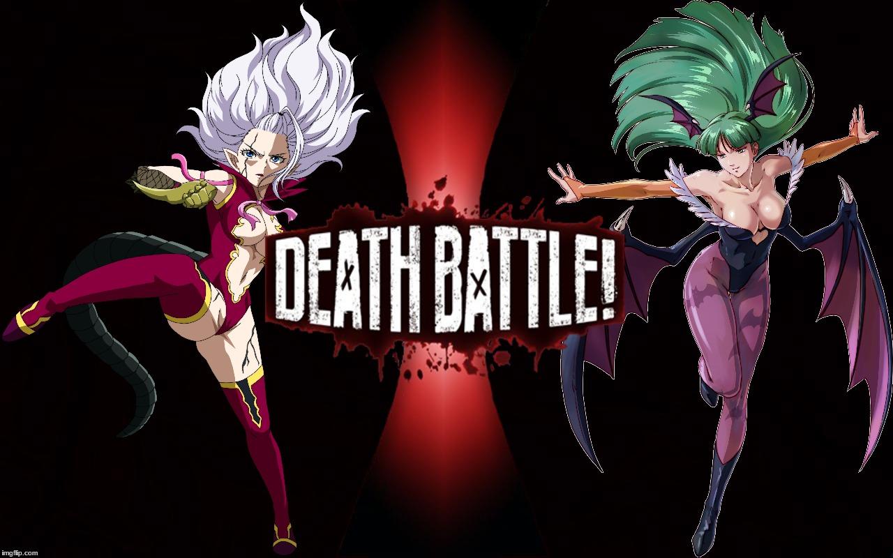 Death Battle Mirajane Strauss Vs Morrigan Aensland By K Manoc1 On Deviantart What appearance would she take in every satan soul? death battle mirajane strauss vs