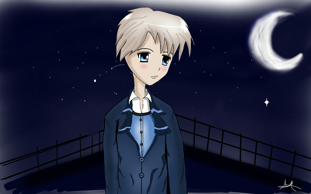 A sad boy in the nightmy first art on deviantart by alvarez03
