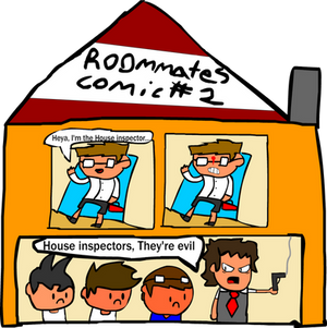Roommates Comic # 2 - House Inspector