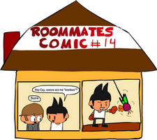 Roommates Comic # 14 - Punny
