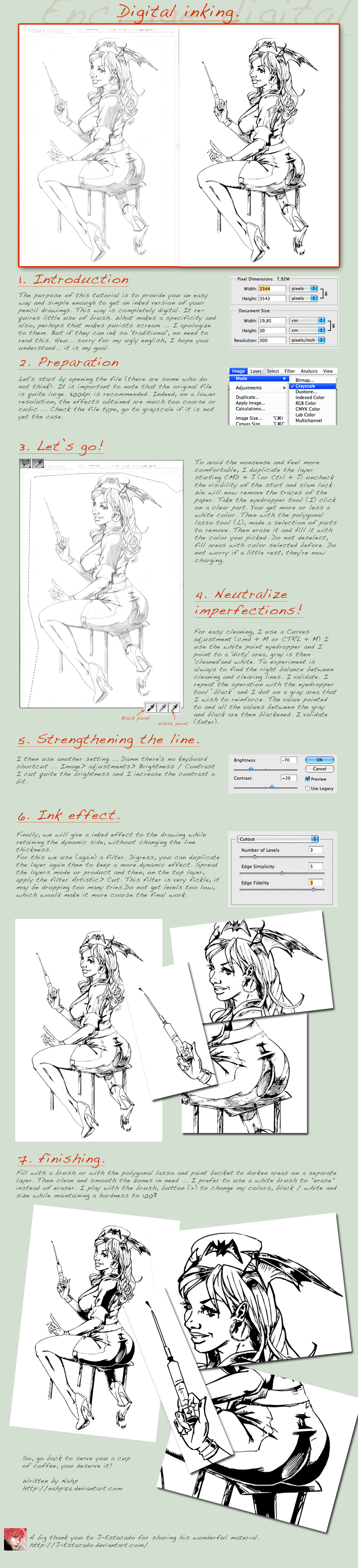 Tutorial - digital inking by nahp75