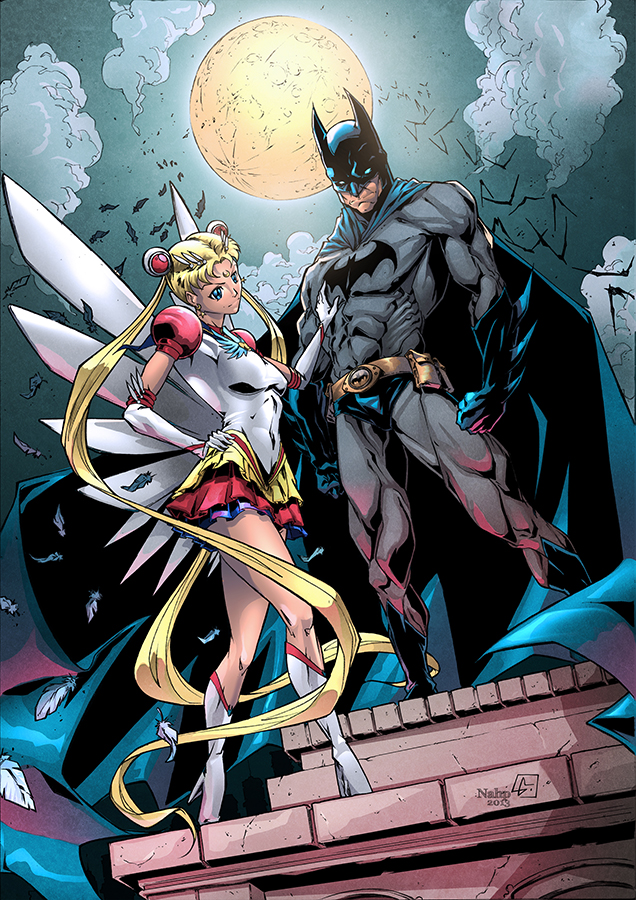 Batman Sailormoon colors by nahp75