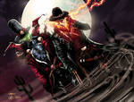 Gunslinger Spawn And Western Ghost Rider Colors