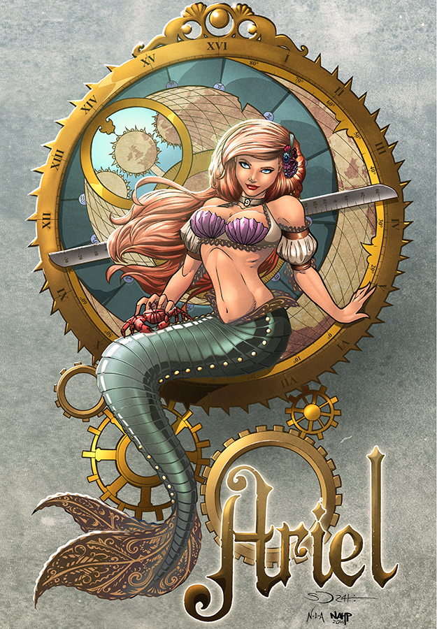 Steampunk Ariel - colors by nahp75