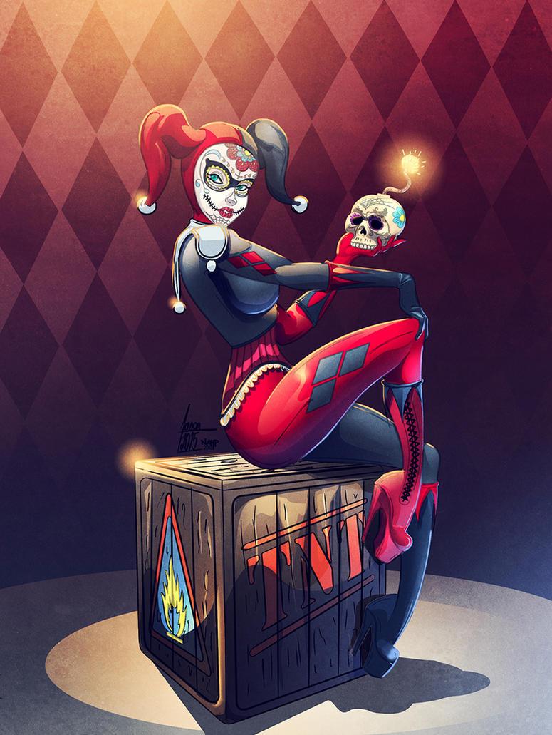 Harley Quinn colors by nahp75