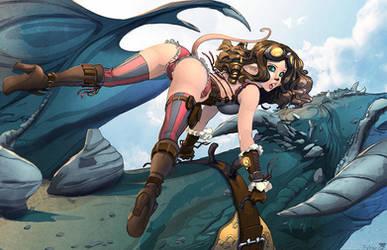 Zalia and the dragon by nahp75