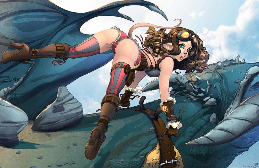 Zalia and the dragon