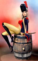 Napoleonic empire Gendarme Elite girl