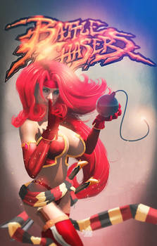 Red Monika from Battle Chasers