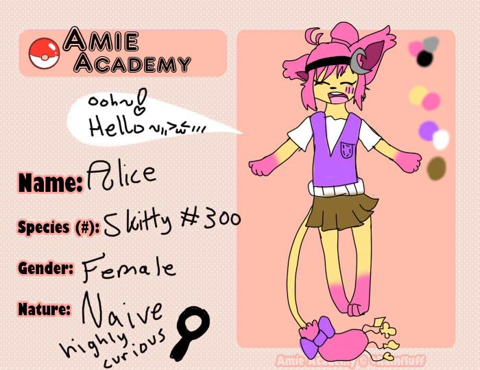 Pokemon Amie- Alice app by StarVeeWolf