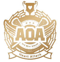aoa heart attack logo low quality by misscatievipbekah on