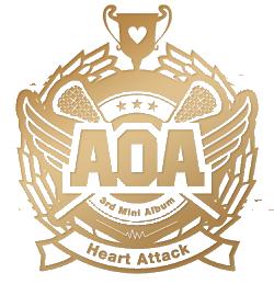 aoa heart attack logo low quality by misscatievipbekah on