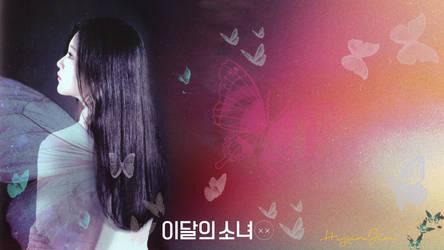 LOONA Butterfly Background HyunJin by MissCatieVIPBekah