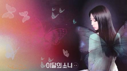 LOONA Butterfly Background Yeojin by MissCatieVIPBekah