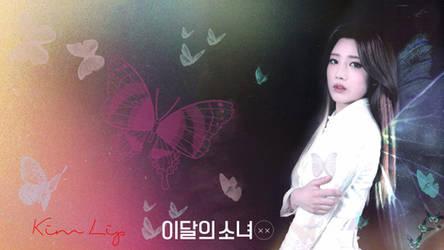 LOONA Butterfly Background Kim Lip by MissCatieVIPBekah