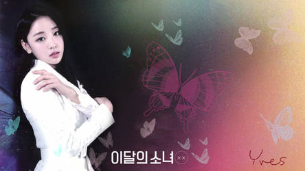 LOONA Butterfly Background Yves by MissCatieVIPBekah