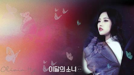 LOONA Butterfly Background OliviaHye by MissCatieVIPBekah