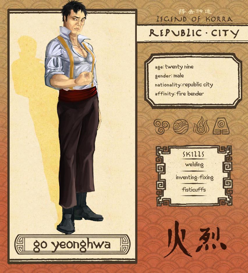 Republic City: Go Yeonghwa Profile [Current] by KanevaPark