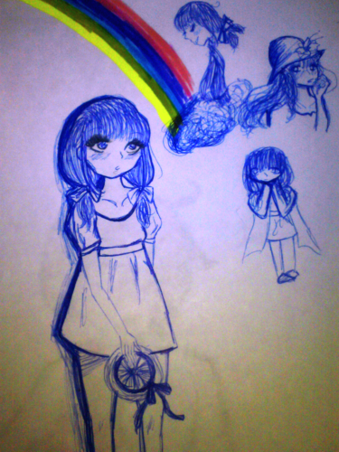Random Rainbow Girl by SnowArisu