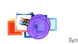 Windows 2000 blowing double purple bgs