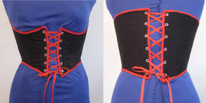 black + red corset