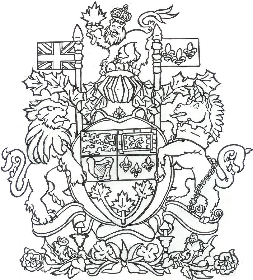 Coat Of Arms Coloring Pages. Heraldry Coloring pages: animal symblos ...