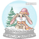 Bunny Snow Globe by Laiyee