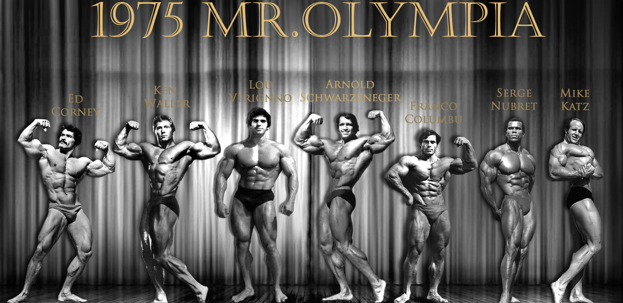 1975 Mr. Olympia and Pumping Iron Cast by Bigmelin on DeviantArt