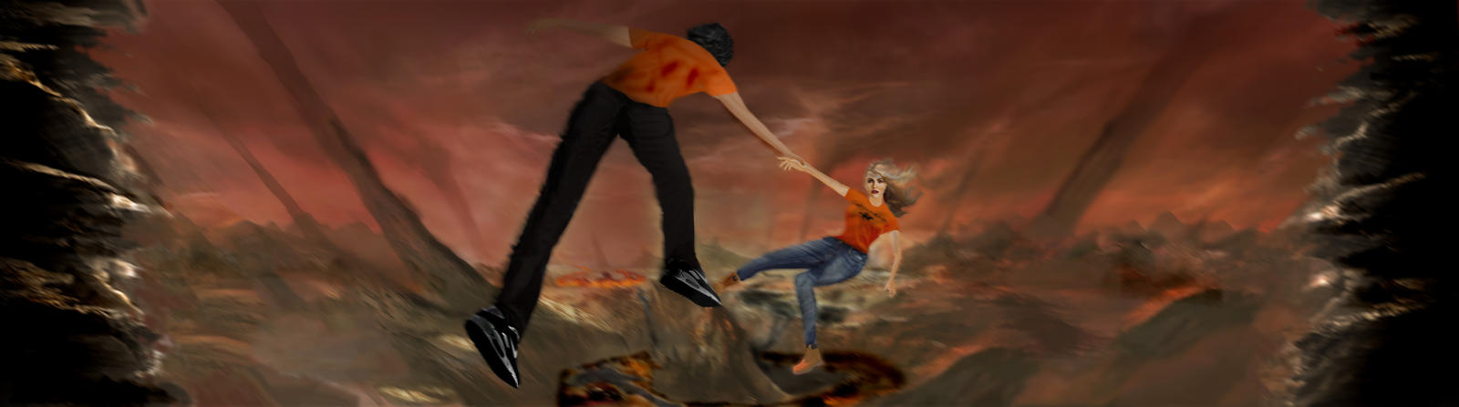 Percabeth In Tartarus for Pinterest Percy And Annabeth Fall Into Tartarus