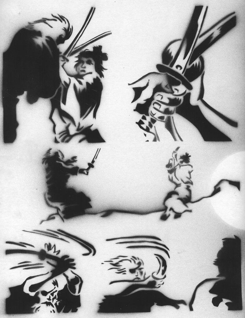 Wolf Spray Paint Stencil