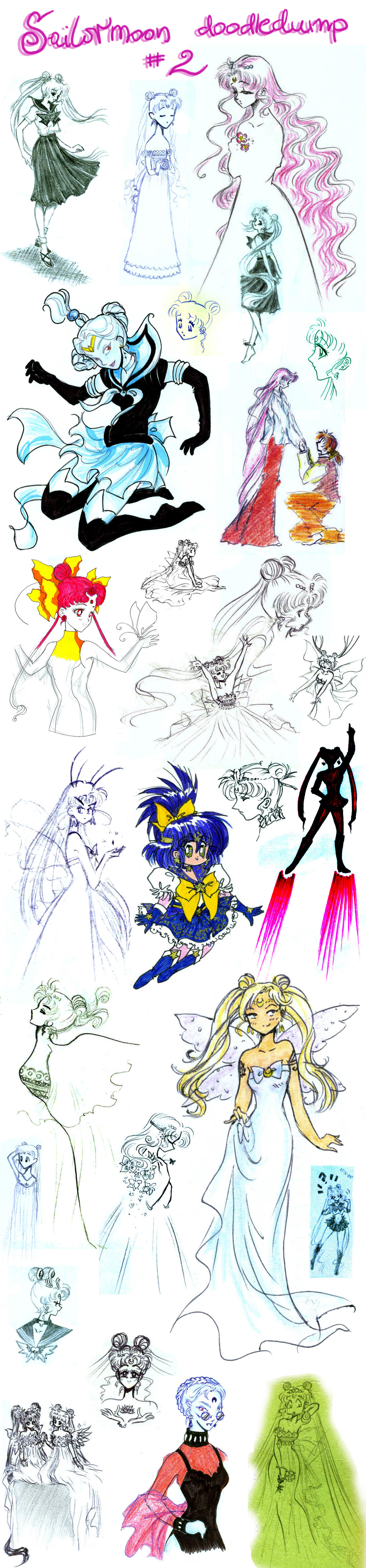 Sailormoon doodledump 2 by NitroFieja