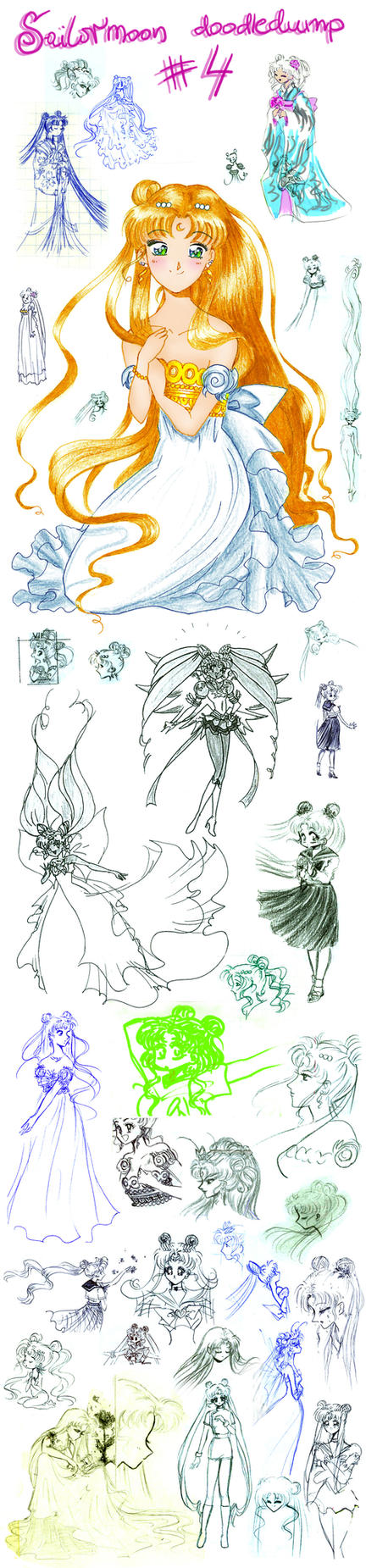 Sailormoon doodledump 4 by NitroFieja