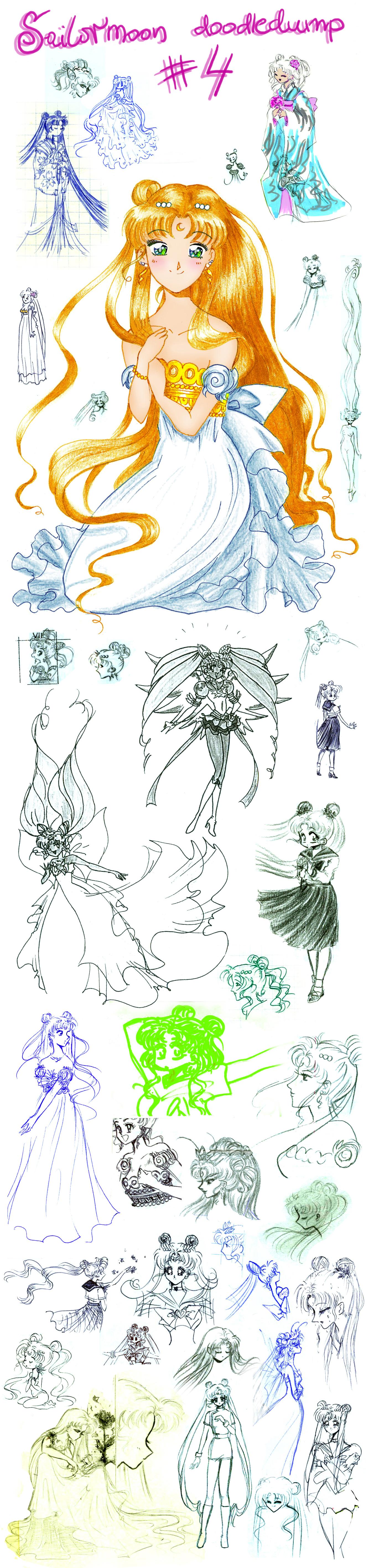 Sailormoon doodledump 4 by NitroFieja