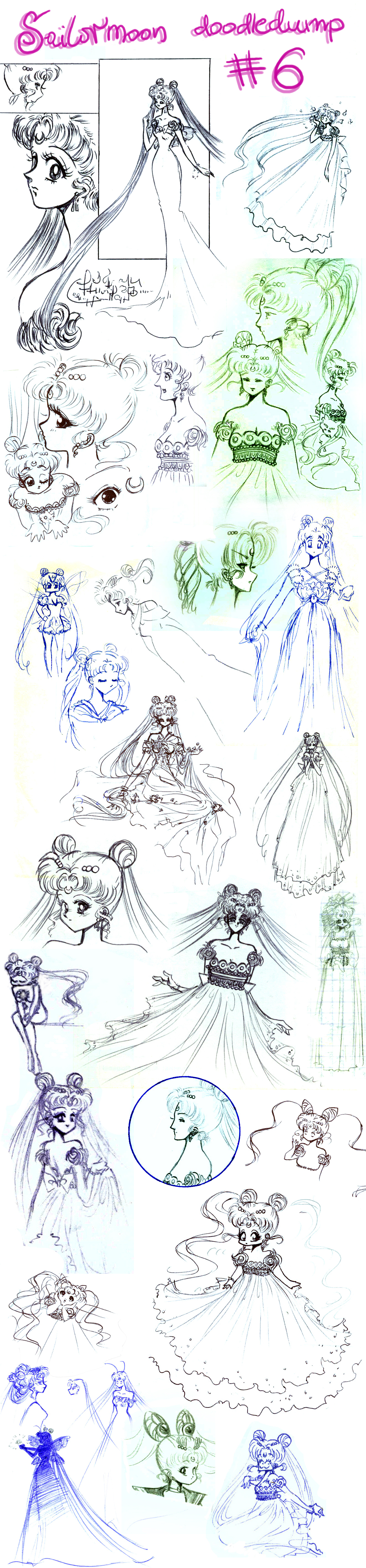 Sailormoon doodledump 6 by NitroFieja