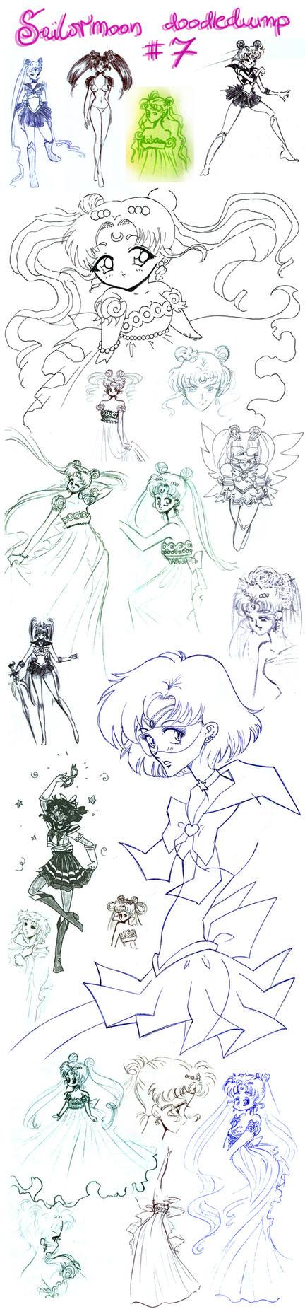 Sailormoon doodledump 7 by NitroFieja