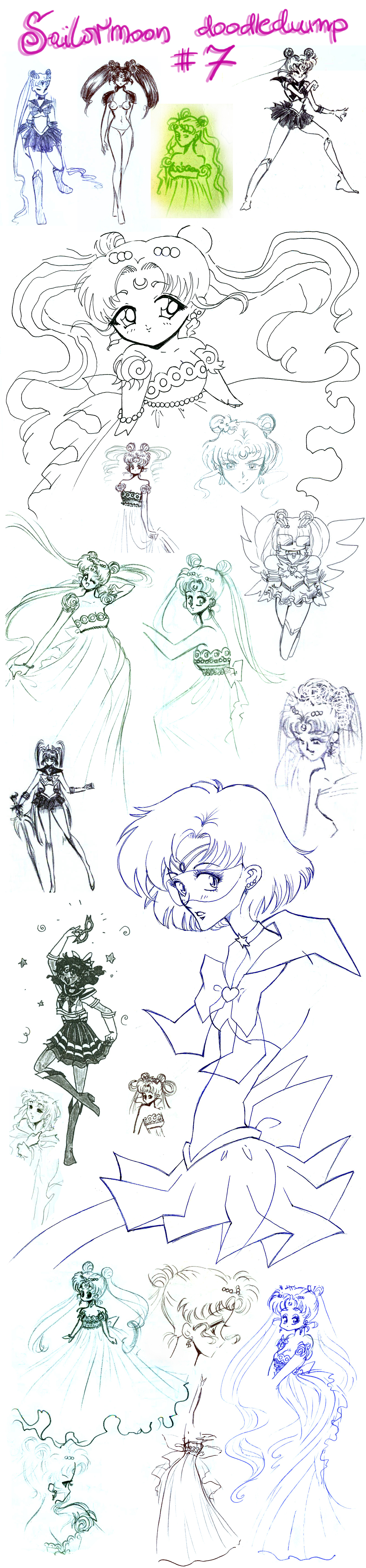 Sailormoon doodledump 7 by NitroFieja