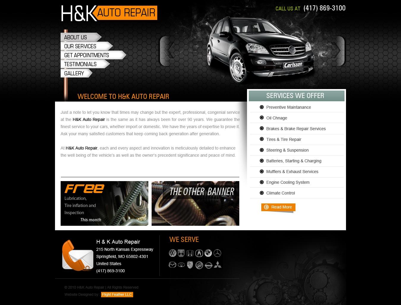 HK Auto Repair Web Design by View9 on DeviantArt