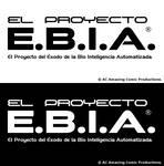 El Proyecto E.B.I.A. Logo en Blanco y Negro