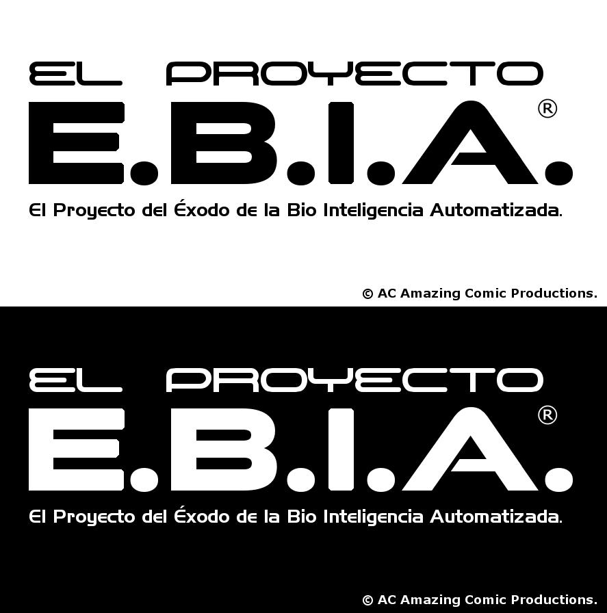 El Proyecto E.B.I.A. Logo en Blanco y Negro by alexcruz
