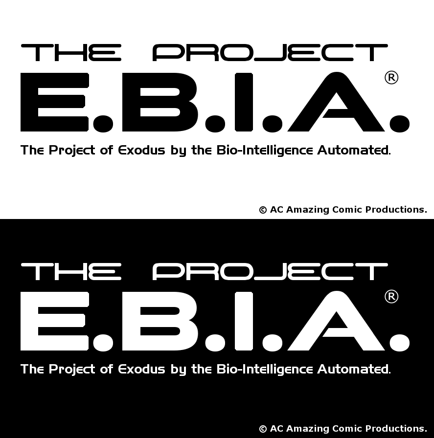 The Project E.B.I.A. Logo White and Black by alexcruz