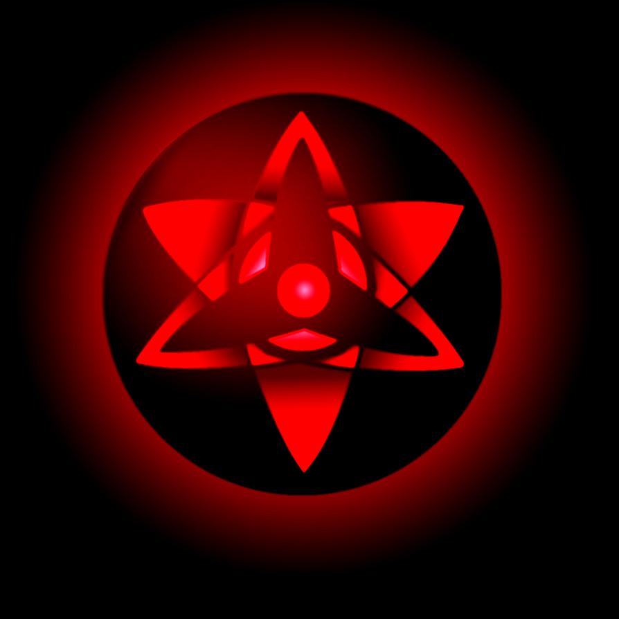 sasukes eternal mangekyou sharingan by aaronc141 on